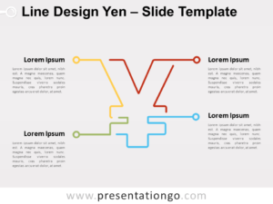 Free Line Design Yen for PowerPoint