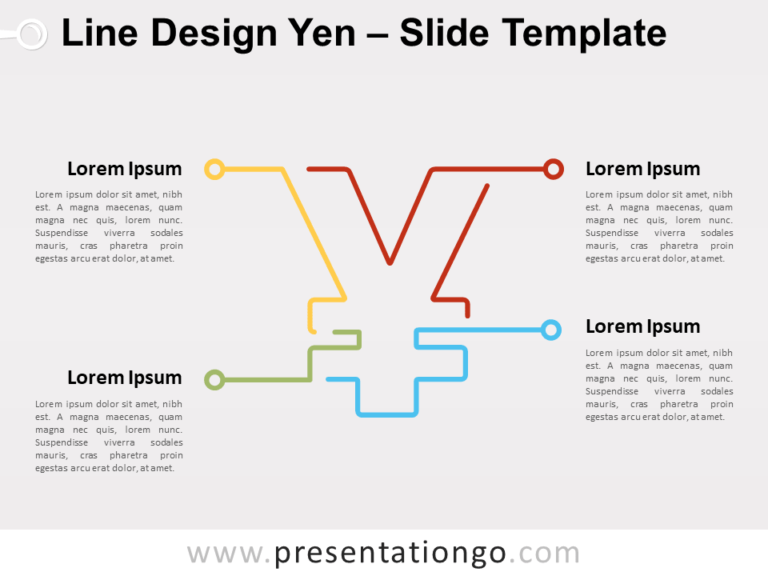 Free Line Design Yen for PowerPoint
