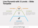 Free Line Pyramid 3 Levels for PowerPoint