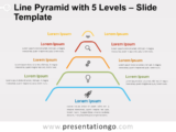 Free Line Pyramid 5 Levels for PowerPoint
