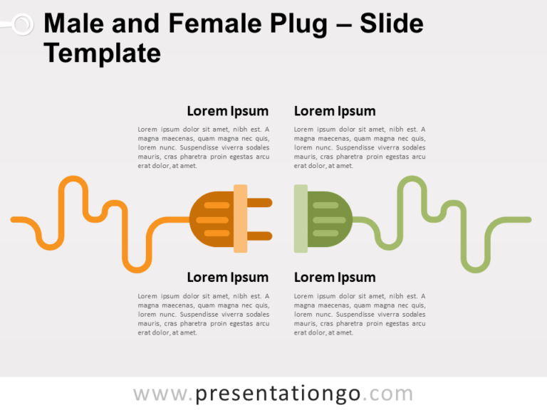 Free Male Female Plug for PowerPoint