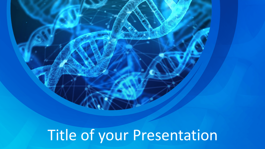 Free Medical Research Template for Powerpoint and Google Slides - Title Slide