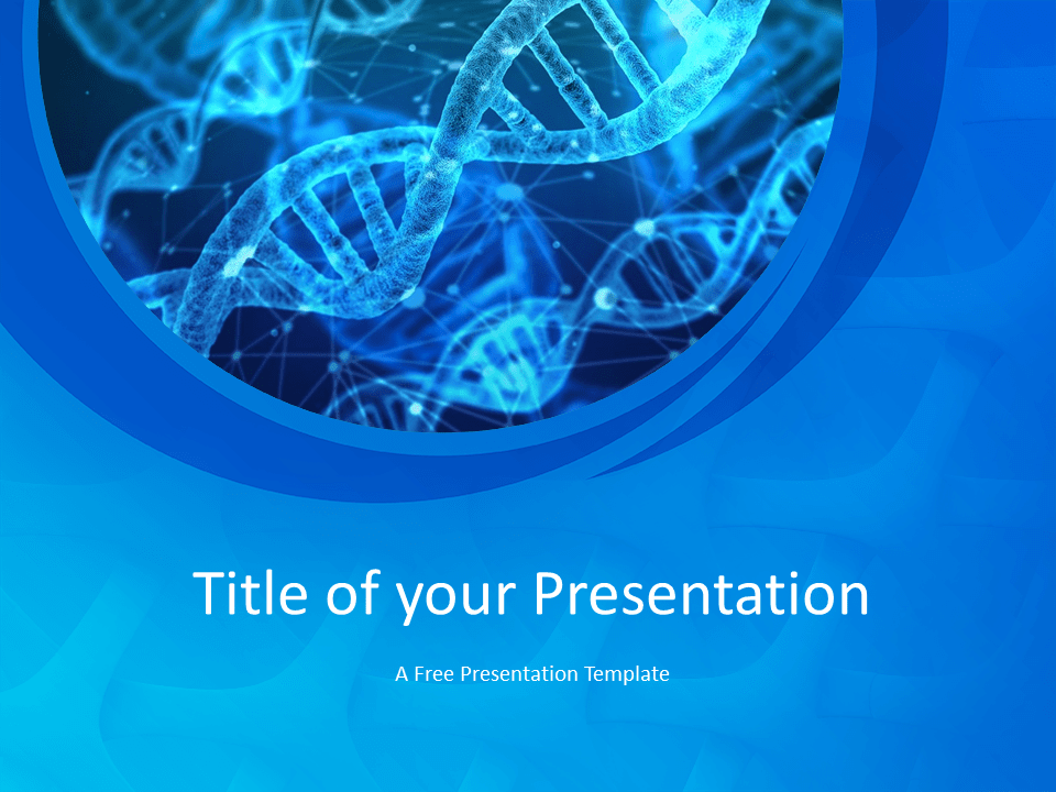 Free Medical Research Template for Powerpoint - Title Slide