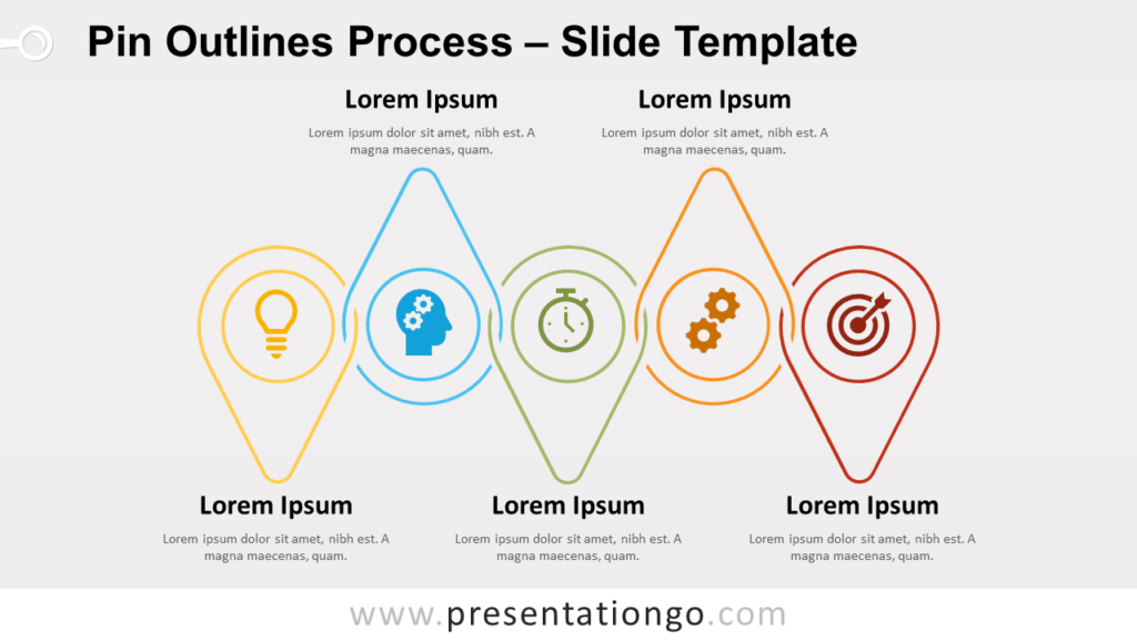 Free Pin Outlines Process for PowerPoint and Google Slides