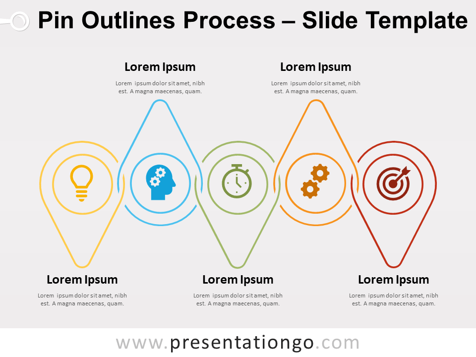 Free Pin Outlines Process for PowerPoint