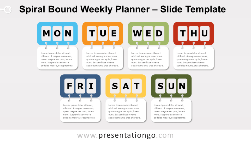 Free Spiral Bound Weekly Planning for PowerPoint and Google Slides