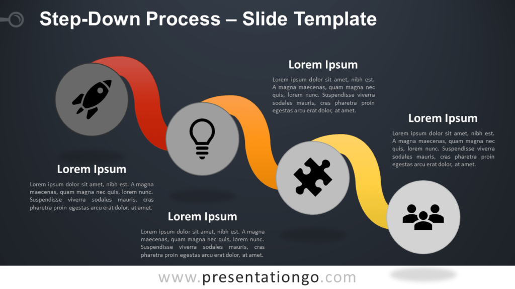 Free Step-Down Process Infographic for PowerPoint and Google Slides