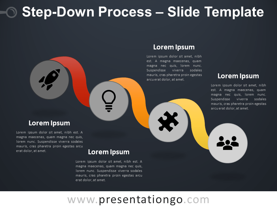 Free Step-Down Process Infographic for PowerPoint