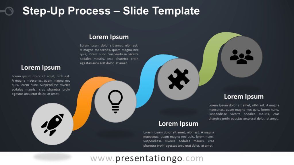 Free Step-Up Process Infographic for PowerPoint and Google Slides