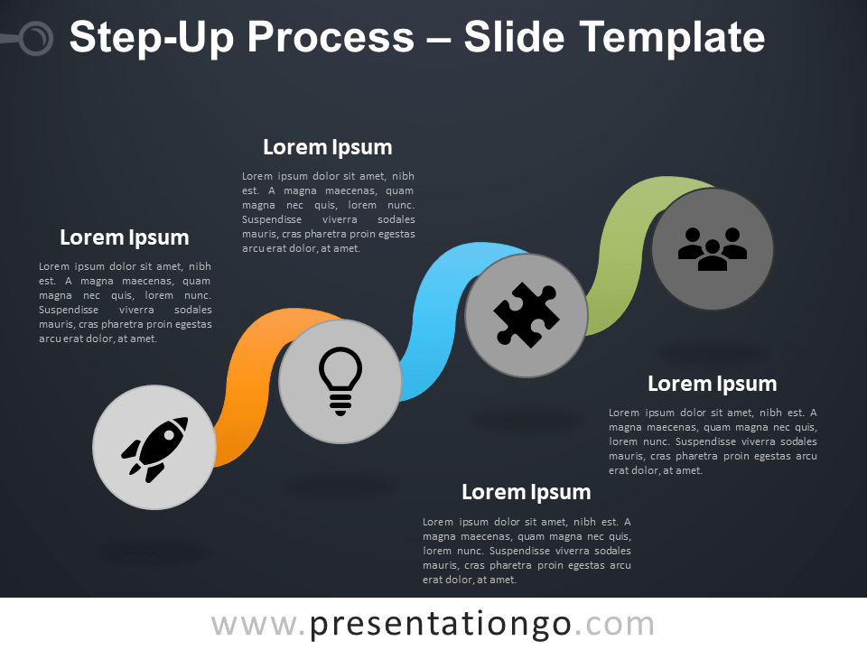 Free Step-Up Process Infographic for PowerPoint