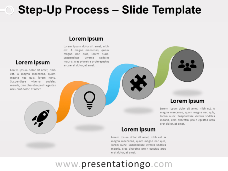 Free Step-Up Process for PowerPoint