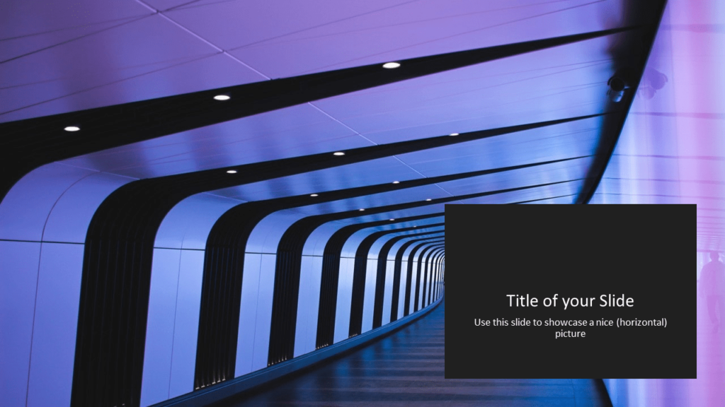 Free Tech Template for Powerpoint and Google Slides - Panoramic Picture Placeholder