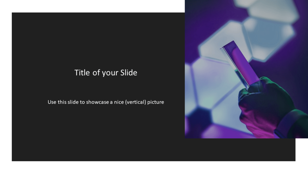 Free Tech Template for Powerpoint and Google Slides - Picture Placeholder