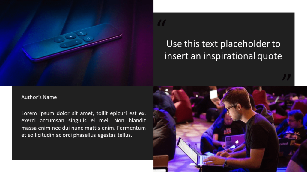 Free Tech Template for Powerpoint and Google Slides - Quote Placeholders