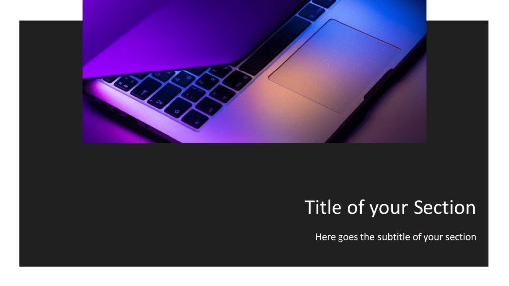 Free Tech Template for Powerpoint and Google Slides - Section Header