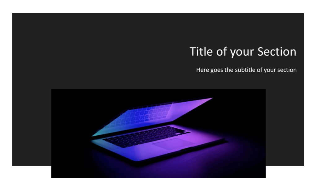 Free Tech Template for Powerpoint and Google Slides - Section Header Alternative
