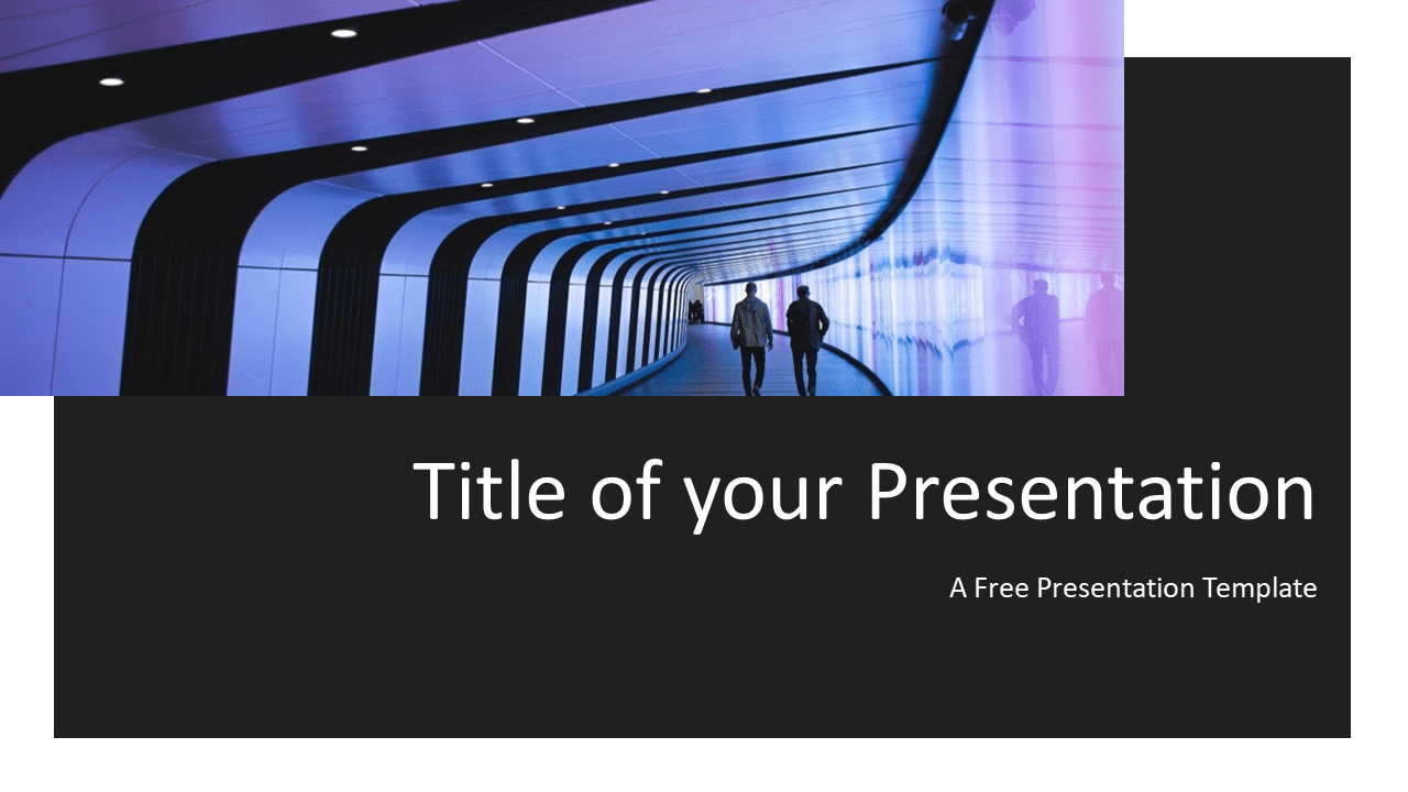 Free Tech Template for Powerpoint and Google Slides - Title Slide