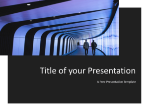 Free Tech Template for Powerpoint - Title Slide