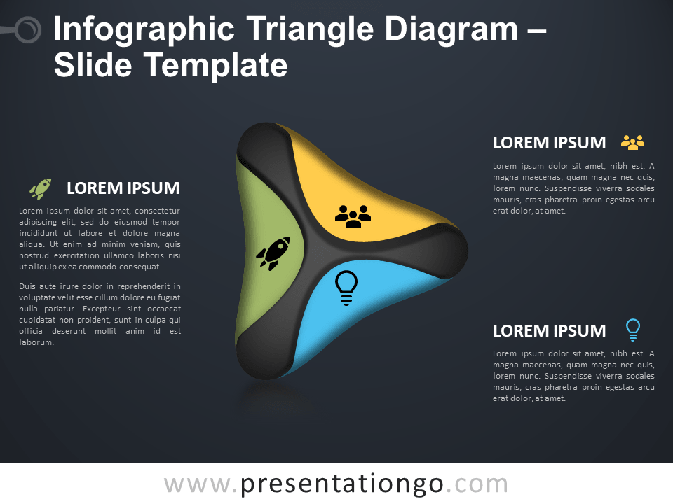 Free Triangle Diagram Infographic for PowerPoint