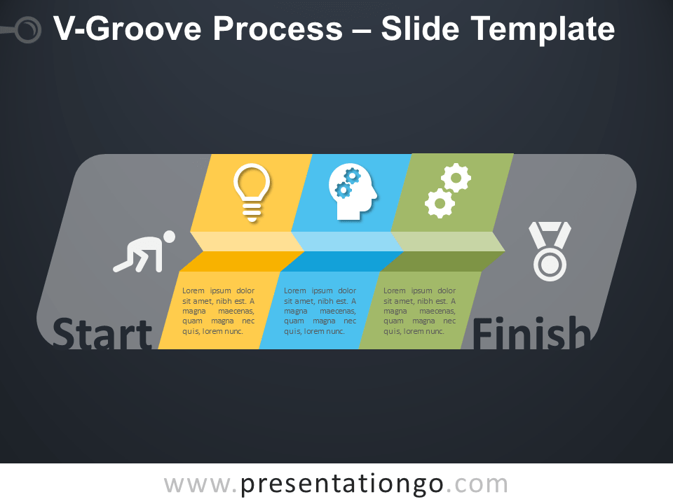 Free V-Groove Process Infographic for PowerPoint