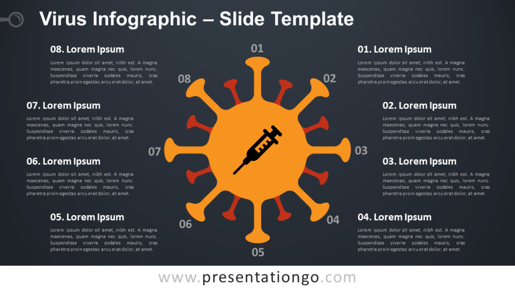 Free Virus Infographic Slide for PowerPoint and Google Slides