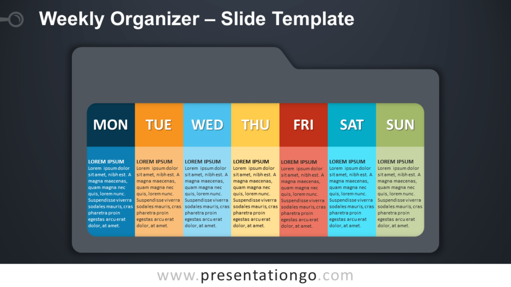 Free Weekly Organizer Infographic for PowerPoint and Google Slides