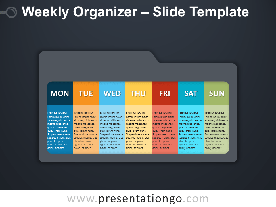 Free Weekly Organizer Infographic for PowerPoint
