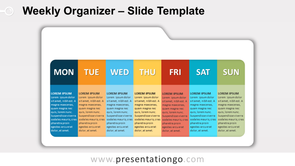Free Weekly Organizer for PowerPoint and Google Slides