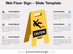 Free Wet Floor Sign for PowerPoint