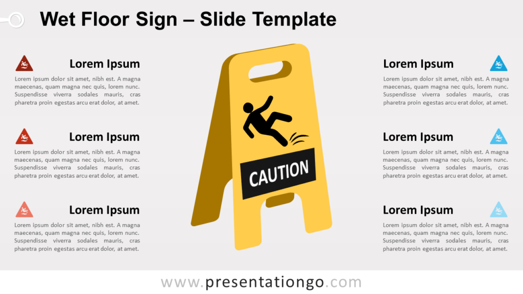Free Wet Floor Sign for PowerPoint and Google Slides