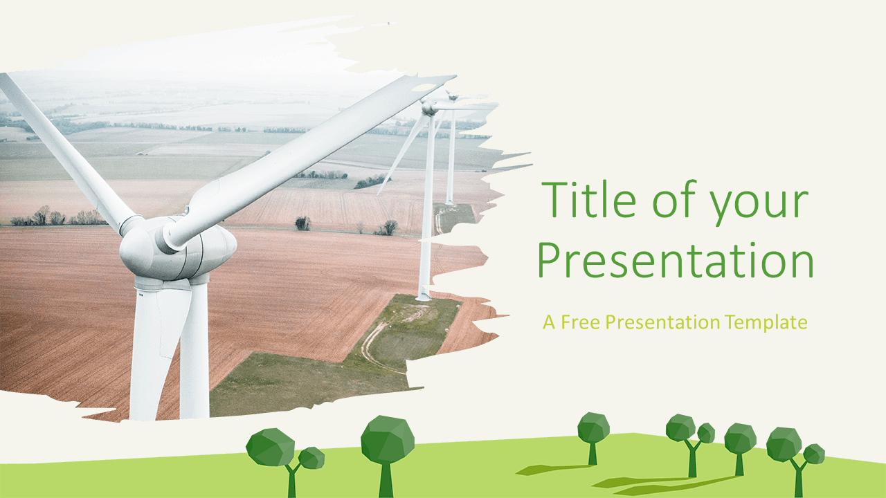 Free ECOLOGY Nature Template for Google Slides - Cover