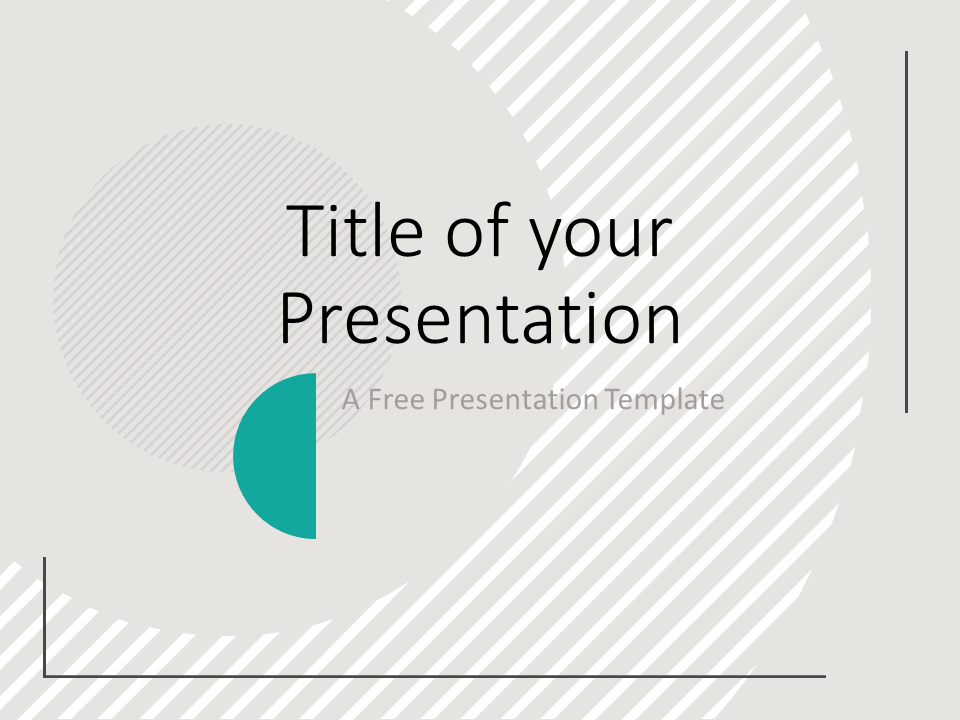 Free Abstract Geometry Template for PowerPoint - Cover