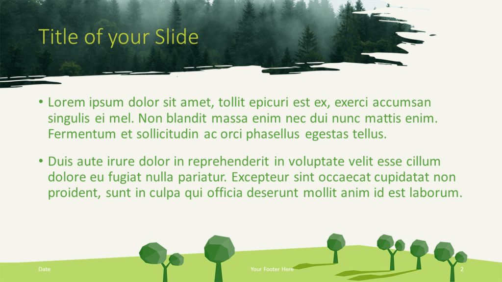 Free ECOLOGY Nature Template for Google Slides - Title Content (variant 1)