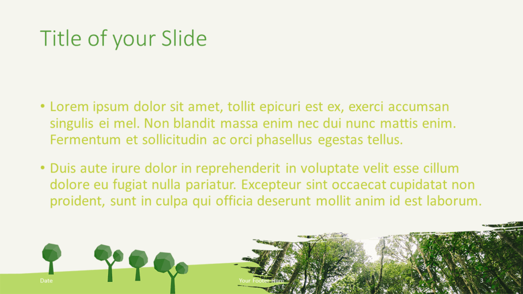 Free ECOLOGY Nature Template for Google Slides - Title Content (variant 2)