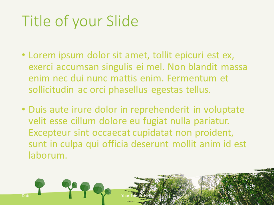 Free ECOLOGY Nature Template for PowerPoint - Title Content (variant 2)