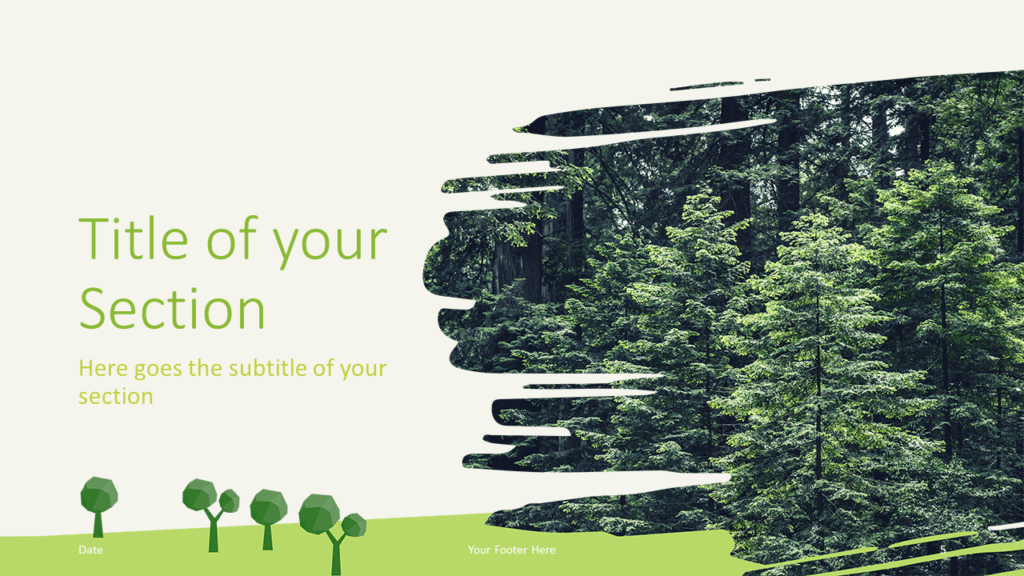 Free ECOLOGY Nature Template for Google Slides - Title Section (variant 2)