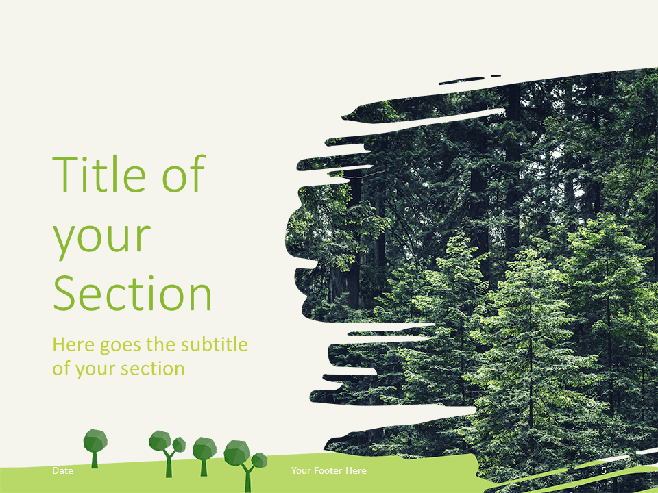 Free ECOLOGY Nature Template for PowerPoint - Title Section (variant 2)
