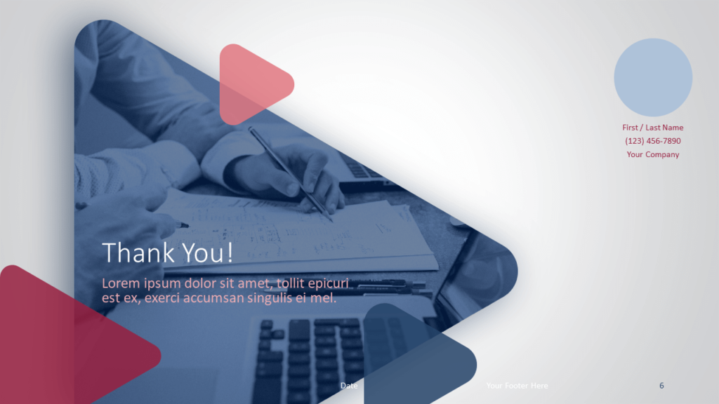 Free Finance & Business Template for PowerPoint and Google Slides - Closing