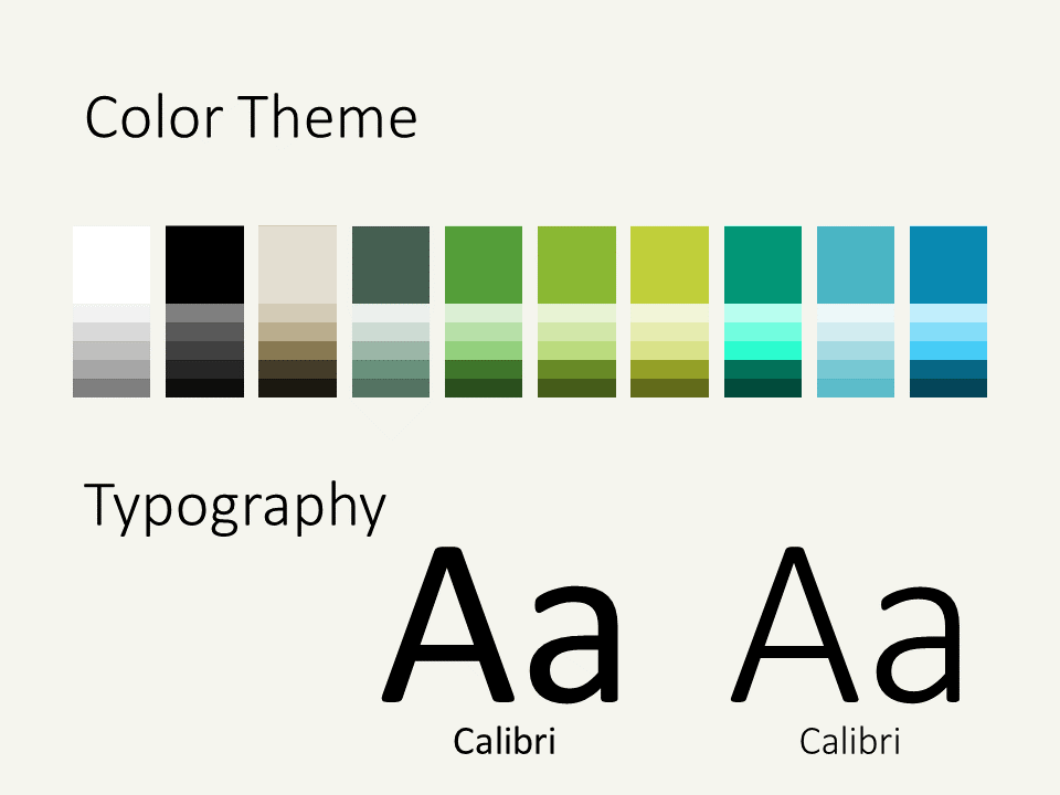 Free ECOLOGY Nature Template for PowerPoint - Colors Fonts