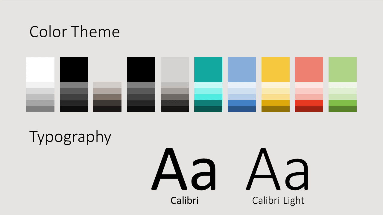 Free Abstract Geometry Template for Google Slides - Colors Fonts
