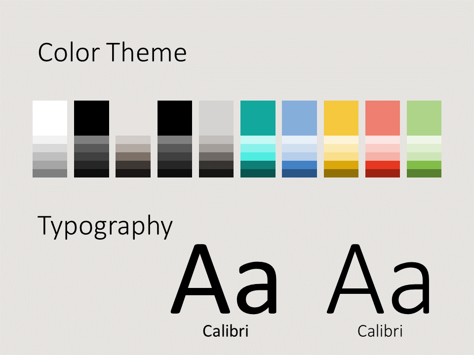Free Abstract Geometry Template for PowerPoint - Colors Fonts