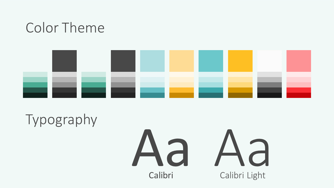 Free MEMPHIS Abstract Template for Google Slides - Colors Fonts