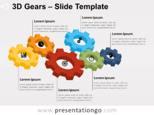 Free 3D Gears for PowerPoint