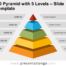 Free 3D Pyramid with 5 Levels for PowerPoint