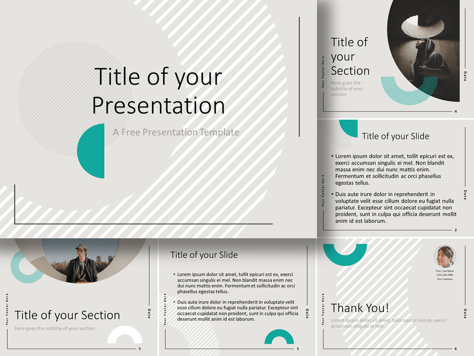 Free ABSTRACT GEOMETRY Template for Google Slides and PowerPoint