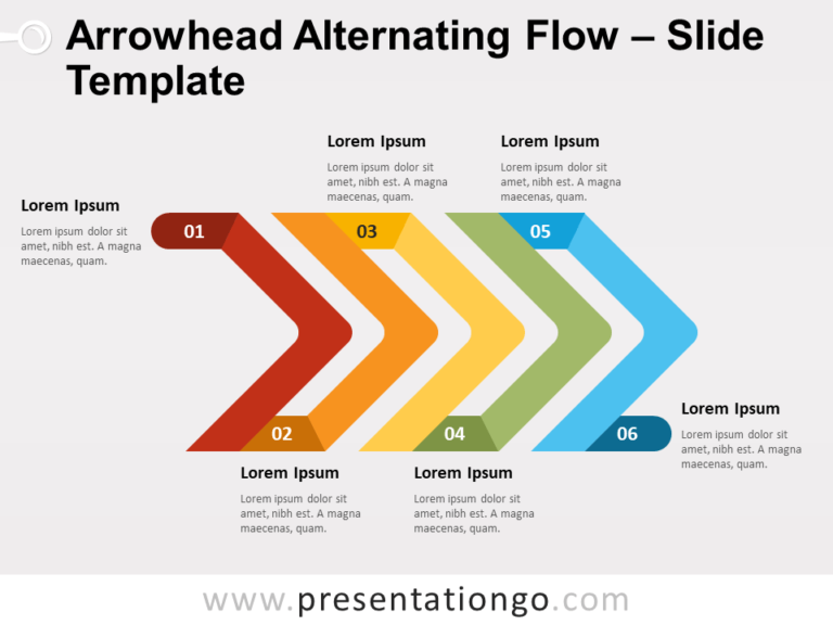 Free Arrowhead Alternating Flow for PowerPoint
