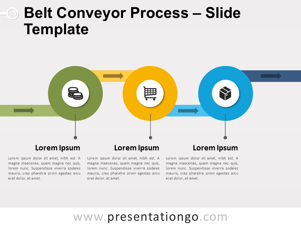 Free Belt Conveyor Process Infographic for PowerPoint