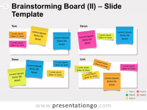 Free Brainstorming Board for PowerPoint
