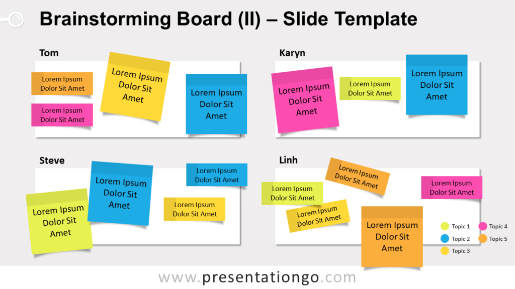 Free Brainstorming Board for PowerPoint and Google Slides