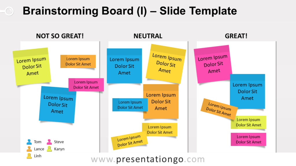 Free Brainstorming Board for PowerPoint and GoogleSlides